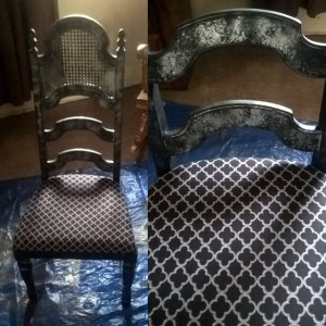 Inexpensive Dining Room Chair Upcycle with Situational Flair – Part One