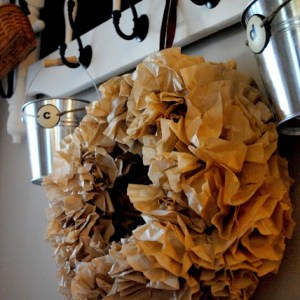 Mini Coffee Filter Wreath