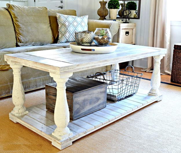DIY Restoration Hardware Knock-Off Balustrade Coffee Table