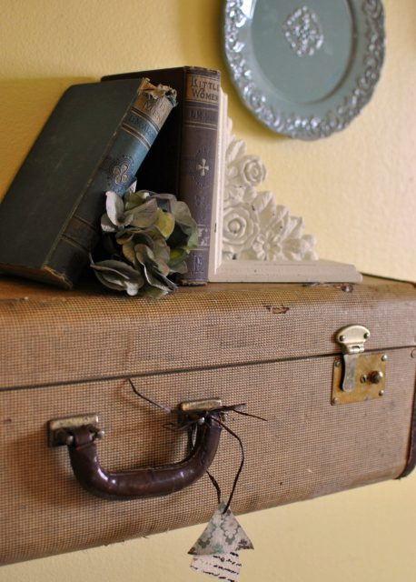 Inexpensive Suitcase shelf