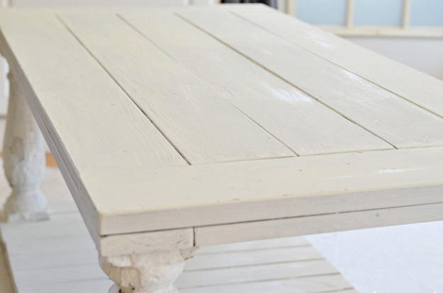 Restoration Hardware Baluster Coffee Table weathered paint finish tutorial
