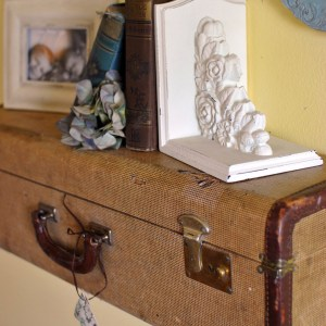 Turn a Vintage Suitcase into a Wall Shelf