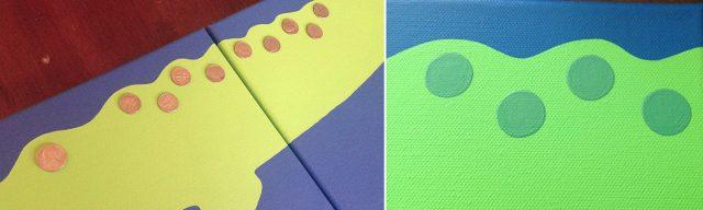 diy alligator painting dot layer