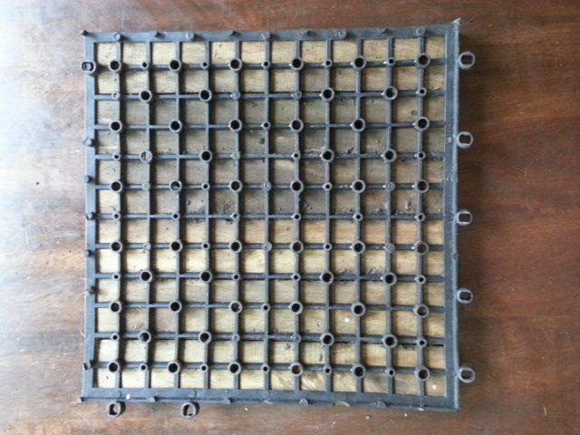backside of tiles