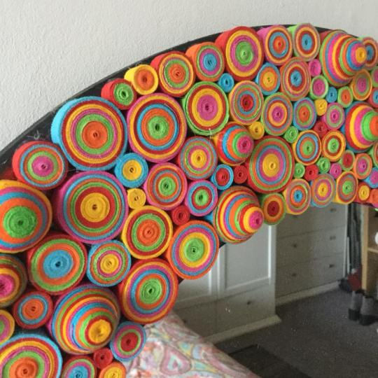 funky mirror with quilling