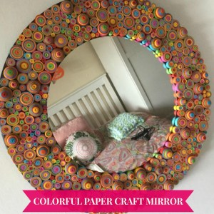 Colorful Paper Craft Mirror
