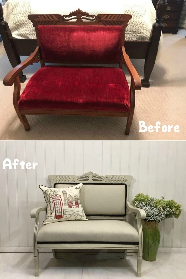 Settee Before and After