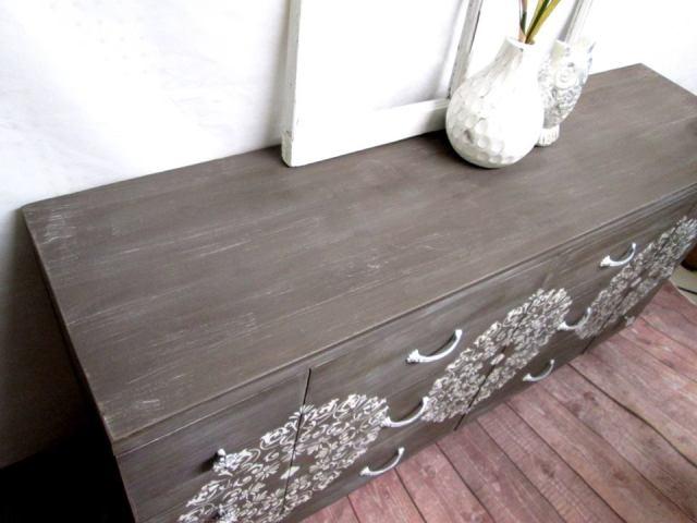 side of Boho drawer dresser