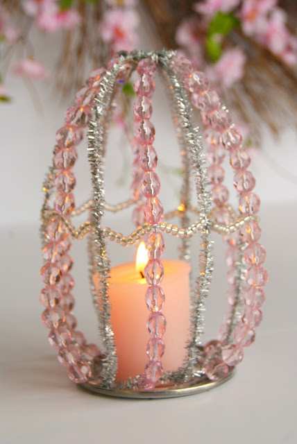 Pink Votive Holder