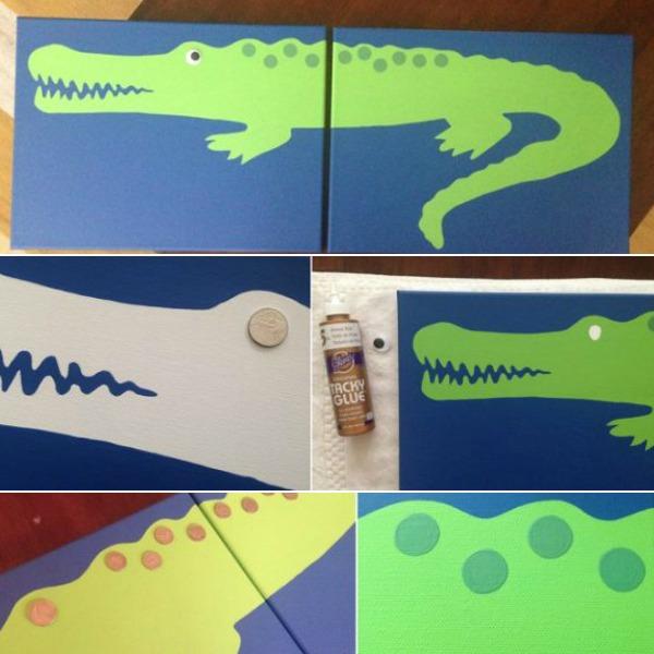 Alligator Painting for Nursery Room