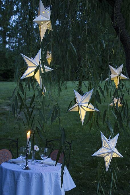 paper star lanterns transformation