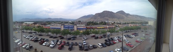 Kamloops: View from our hotel room