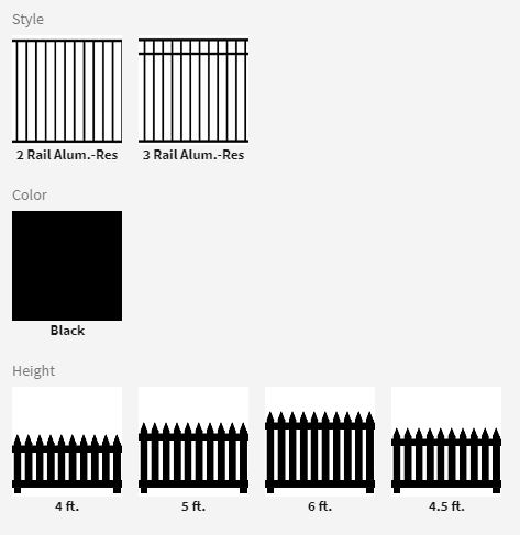 Aluminum Fence Options