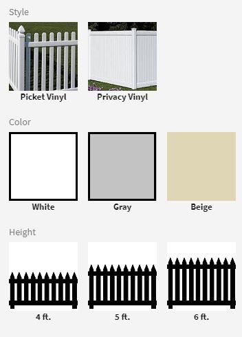 Vinyl Fence Options