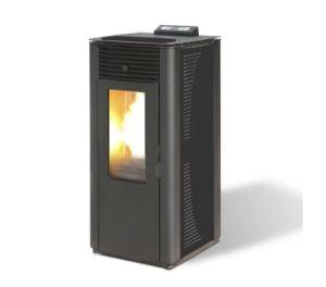 estufa de pellet maxlor-idro-15-canalizable-negro