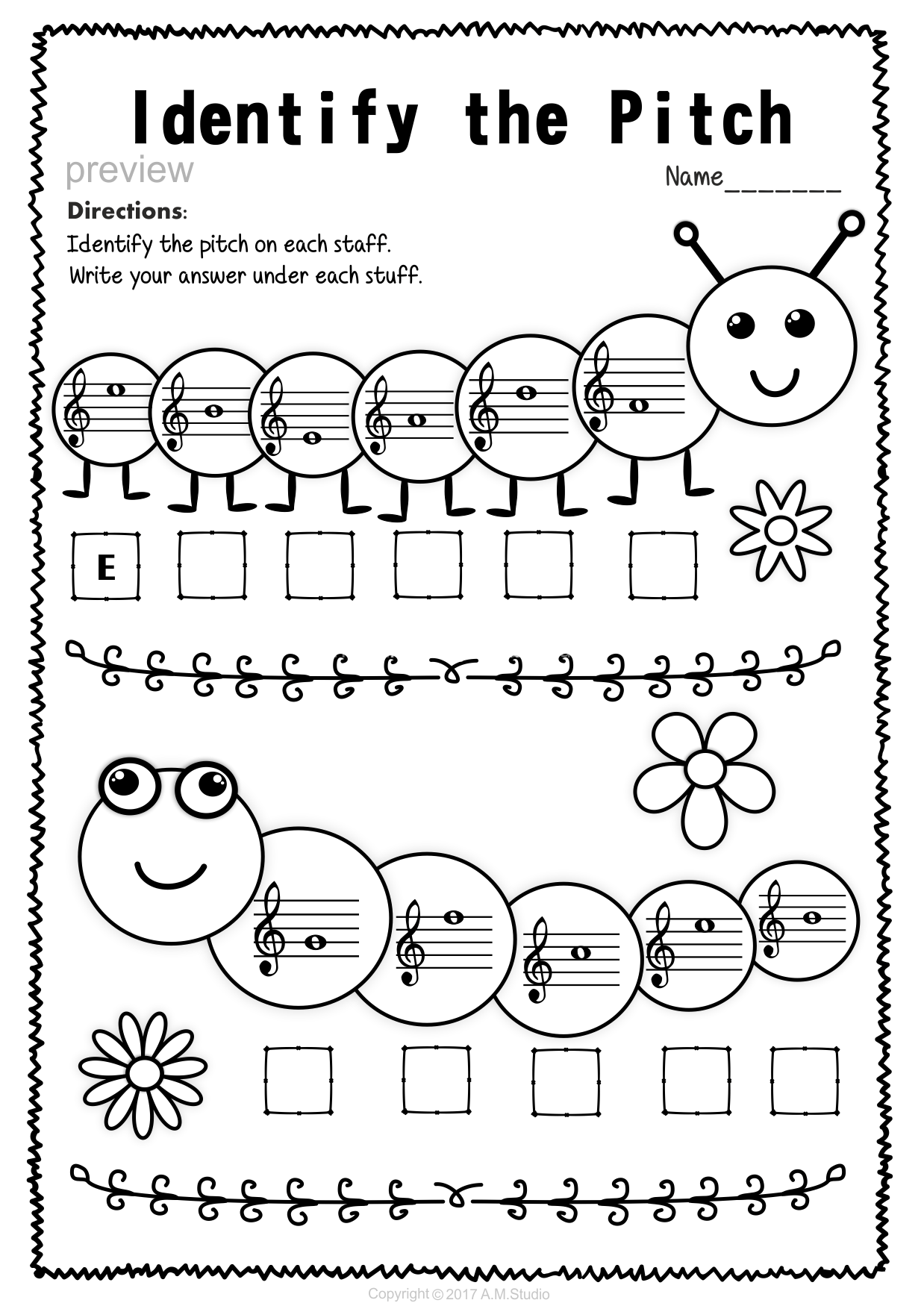 Treble Clef Note Naming Worksheets For Spring3