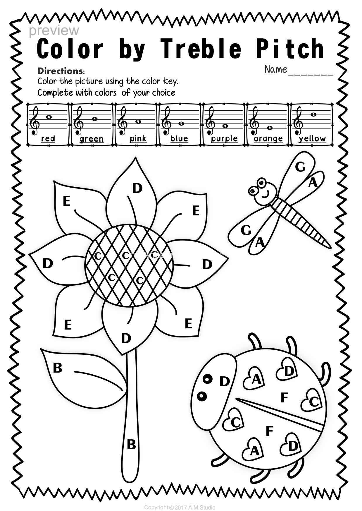 Treble Clef Note Naming Worksheets For Spring9