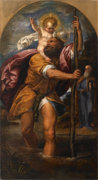 Italian_-_St_Christopher_and_the_Christ_Child_-_Walters_37590