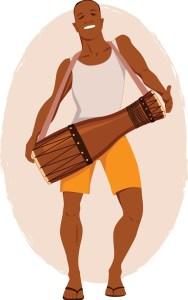 Apre bal, tanbou lou: Au début des festivités, on porte son tambour au bout des bras mais à la fin de la soirée, on le traine à nos pieds.