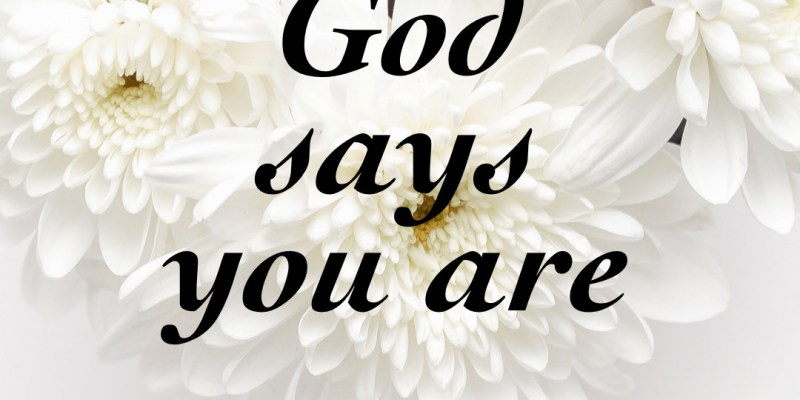 God says your are #1