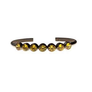 c856e8099a291 Bracelete chacras colours em prata com banho de ródio negro e citrino  amarelo