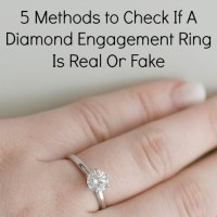 5 Methods to Check If A Diamond Engagement Ring Is Real Or Fake