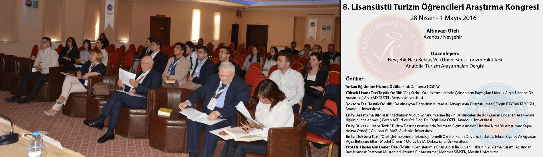 8. Lisansüstü Turizm Öğrencileri Araştırma Kongresi