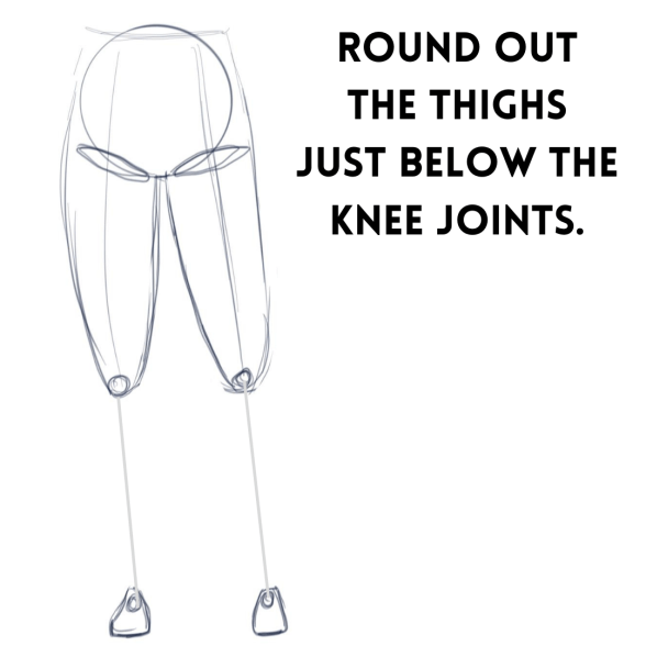 How to Draw Thighs