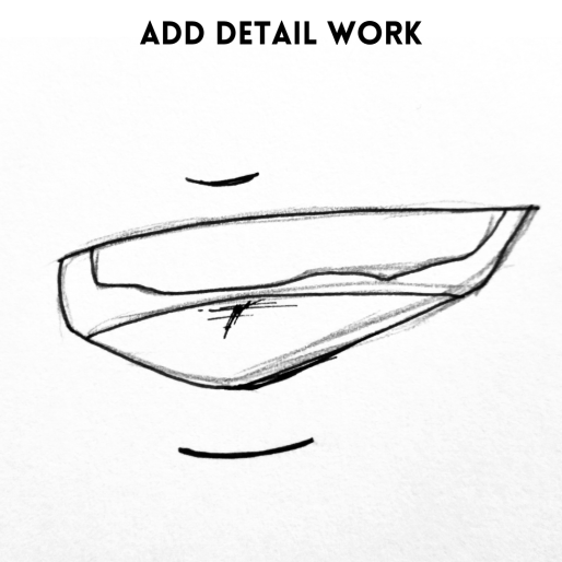 Add pen, draw the mouth