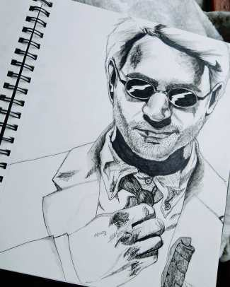 Matt Murdock pen and pencil