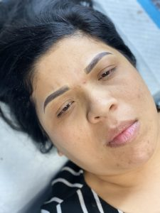 6D Microshading Eyebrows Retouch 1 Year