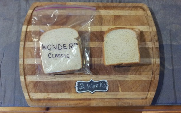 Wonder Bread after 14 days: no mold