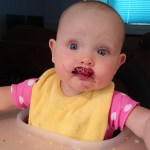 Blueberry baby food mustache