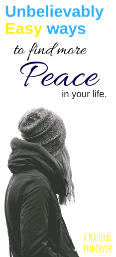 Unbelievably easy ways to find peace in your life.