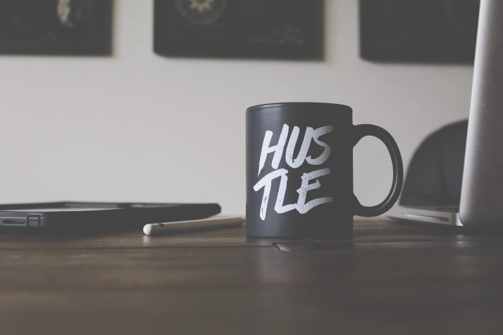 Hustle, do the work first. Set up a successful blog.