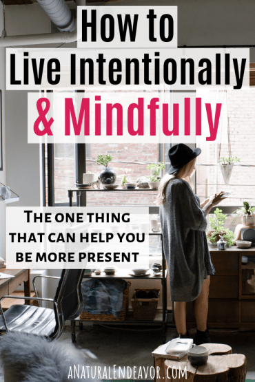 How to live intentionally