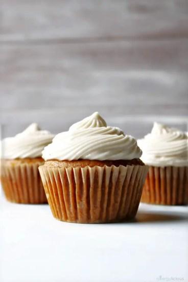 Healthy Fall Dessert, pumpkin cupcakes