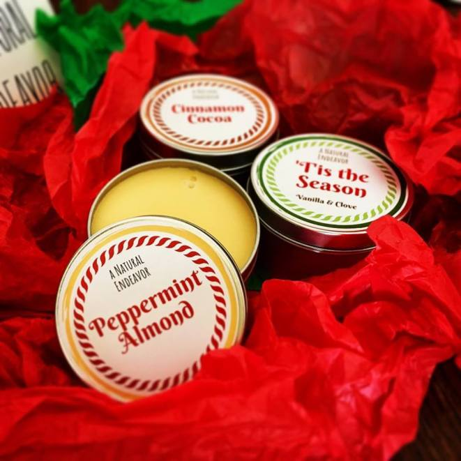 Holiday Candles, a Natural Endeavor beeswax candles