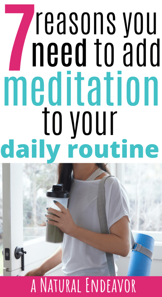 add meditation to your daily routine