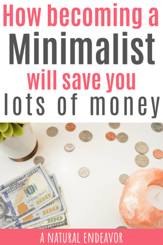 becoming a minimalist can save you money