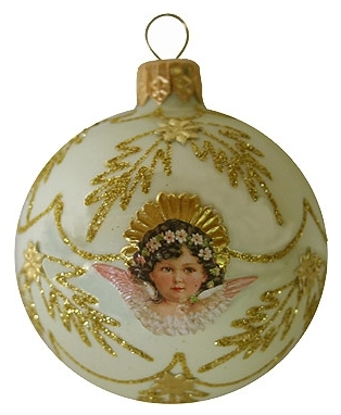 Fancy Pink Angel Christmas ornament - Vintage_ornaments 1