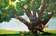 Butterfly Oak; acrylic on canvas; 24 x 36