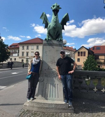 Brother niece visit Slovenia