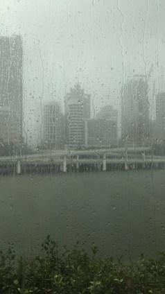 rainy rainy city sights