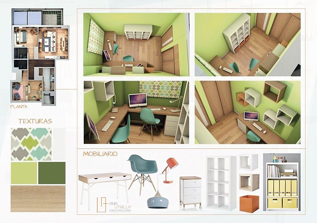 Decoración de interiores para vivienda en Madrid por Ana Utrilla