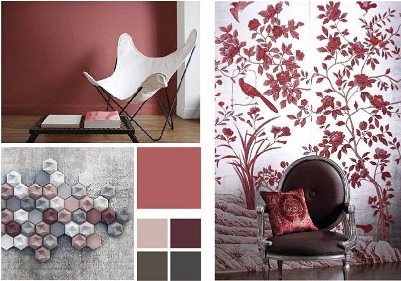 Marsala color pantone 2015 para diseño de interiores