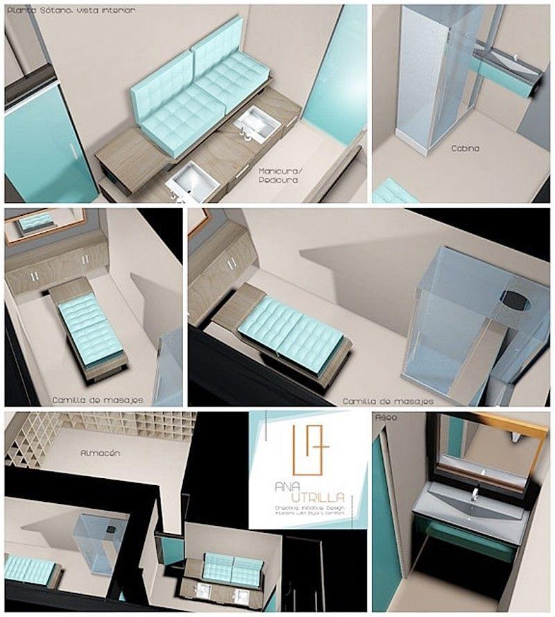 Infografías 3D perfumería en Valladolid cata olfativa, proyecto de interiorismo a medida para perfumería  por Ana Utrilla