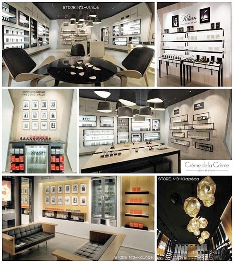 Referencias de inspiración para proyecto de interiorismo perfumería por Ana Utrilla