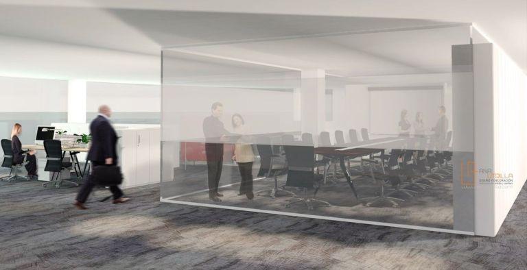 Infografías 3D de oficinas diseño de interiores por Ana Utrilla