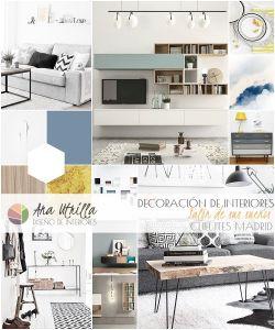 Proyecto decoración de interiores salón para clientes en Madrid por Ana Utrilla